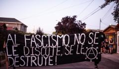 """SANTIAGO, CHILE: BOLETÍN, RESUMEN Y FOTOS SOBRE LA JORNADA """"CONTRA EL FASCISMO EN NUESTROS BARRIOS""""."""
