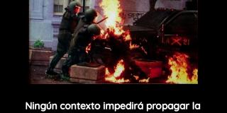 CHILE: AFICHE – EL COMBATE NO SE DETIENE.