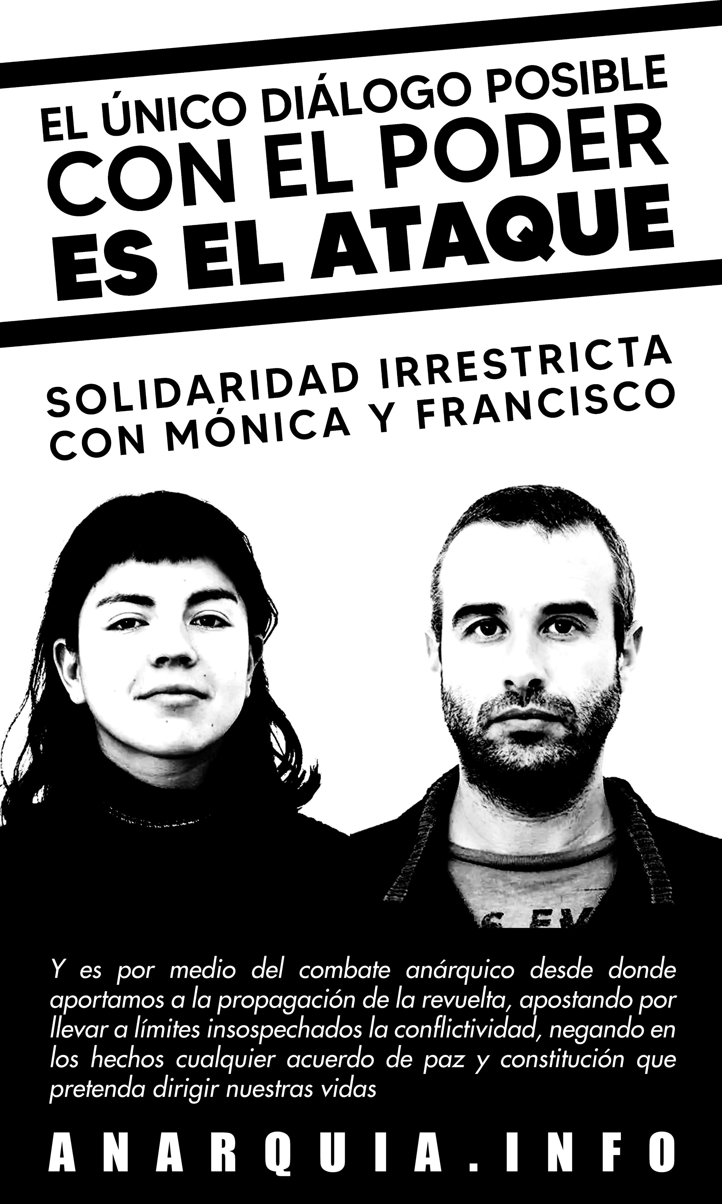 AFICHE – SOLIDARIDAD CON MÓNICA CABALLERO Y FRANCISCO SOLAR.