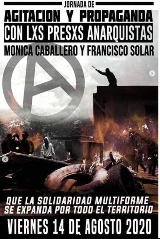 CHILE: JORNADA DE AGITACIÓN Y PROPAGANDA CON LXS PRESXS ANARQUISTAS – 14 DE AGOSTO.